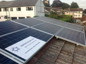 Example of retrofit PV system on an existing house in Somerset